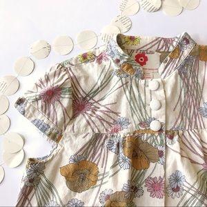 Forever 21 Floral Cropped Jacket, Short Sleeves